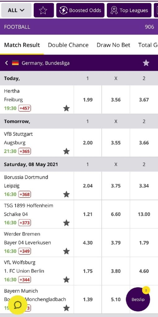 Hollywoodbets bets