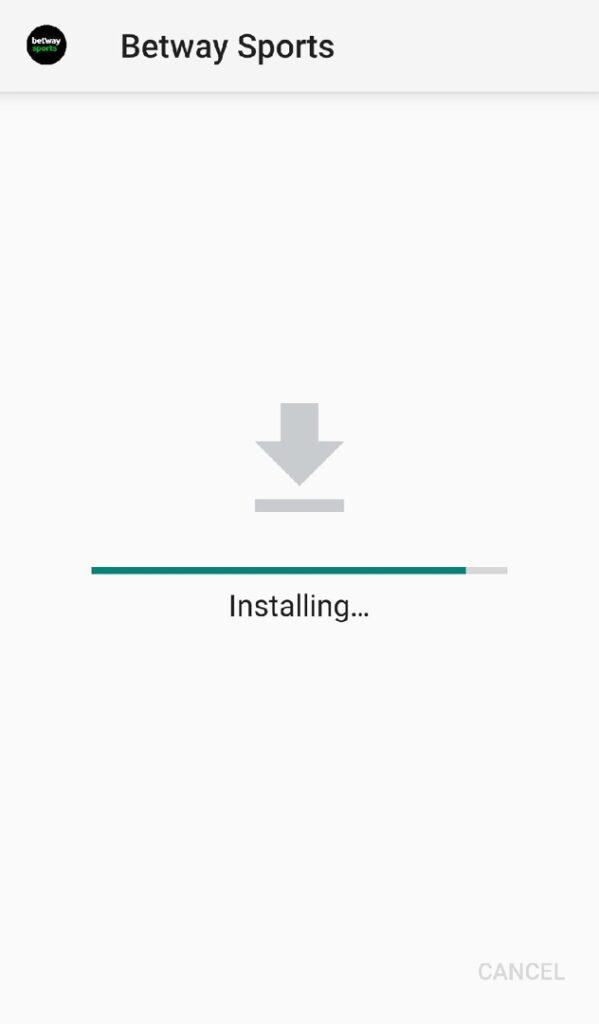 betway app installing