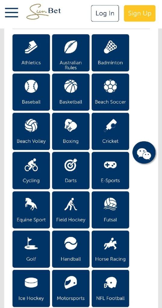 Sportsbook Menu
