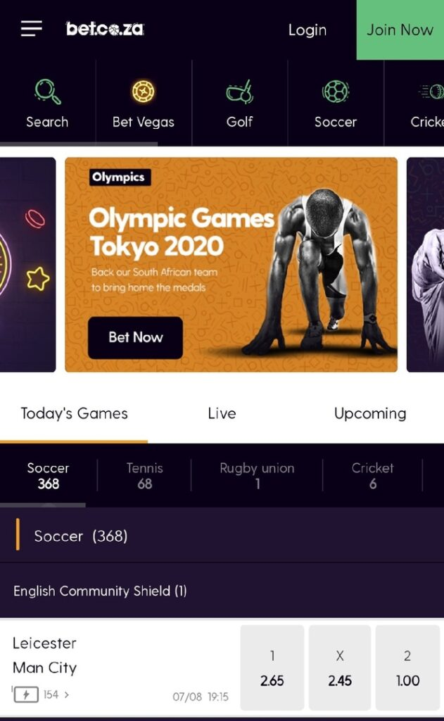 Bet.co.za App for Android