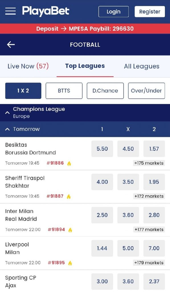 Bets on Football
