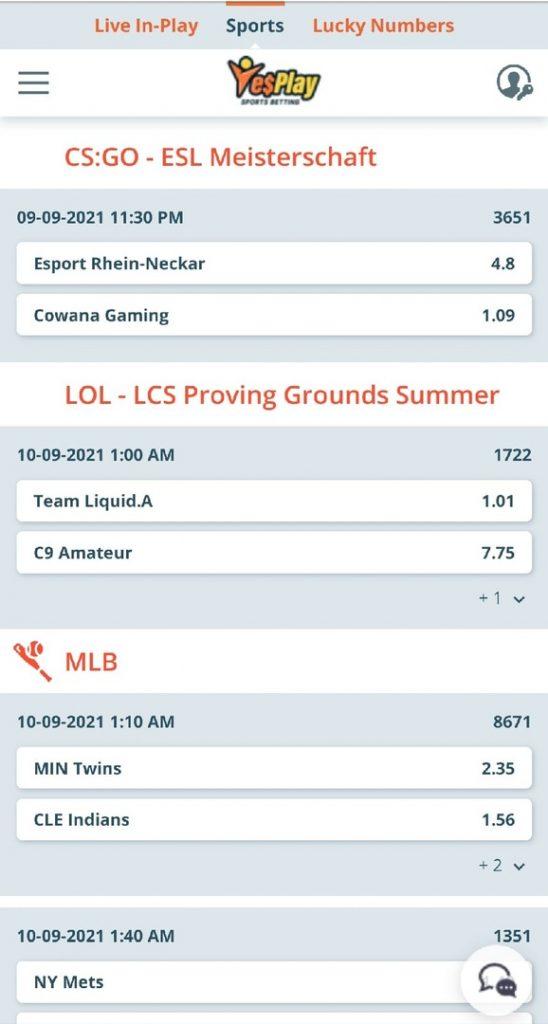 e-sports bets