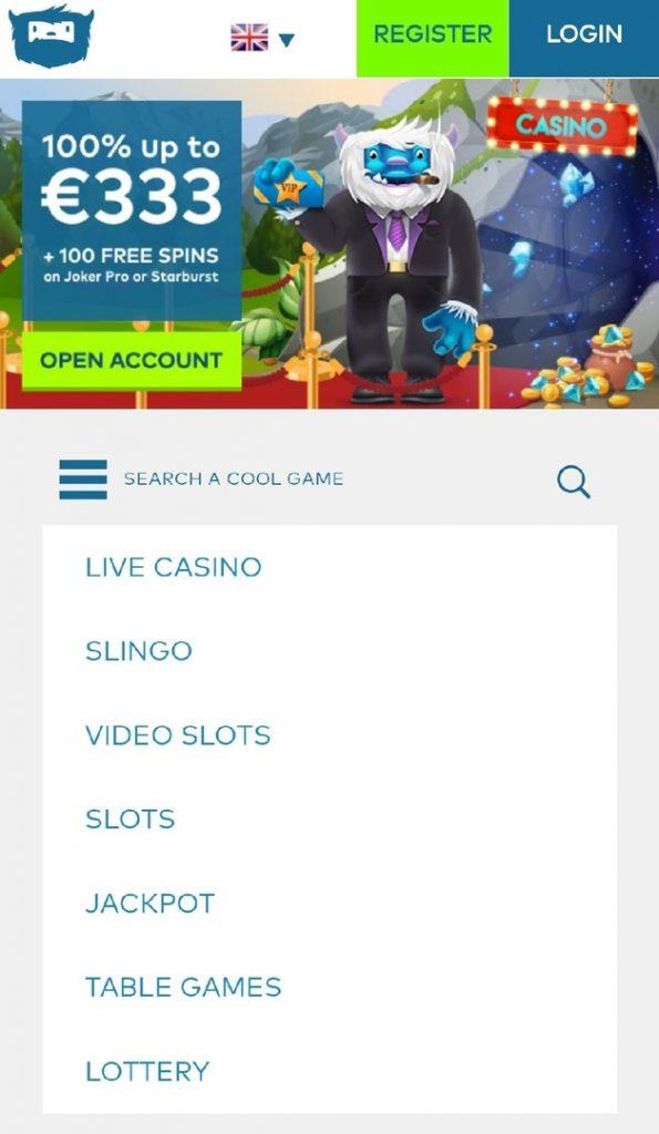 Yeti Casino App