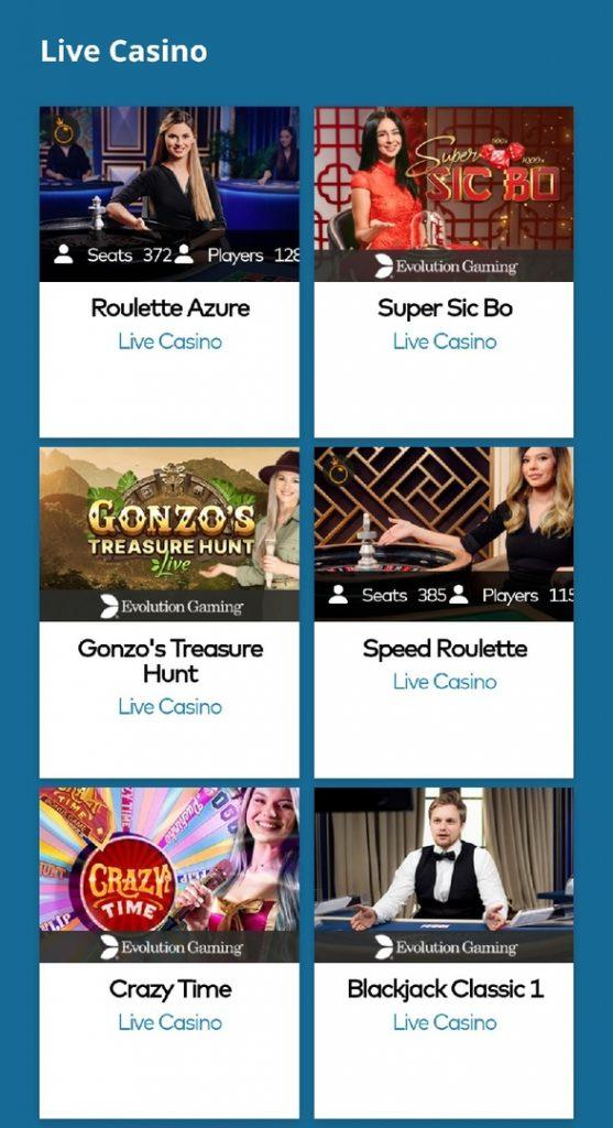 Yeti Live Casino