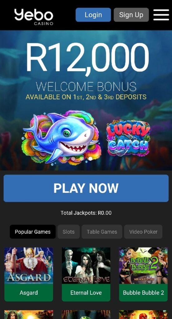 Yebo Casino Mobile App