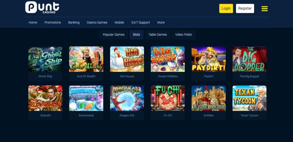 Slots Machines in Punt Casino