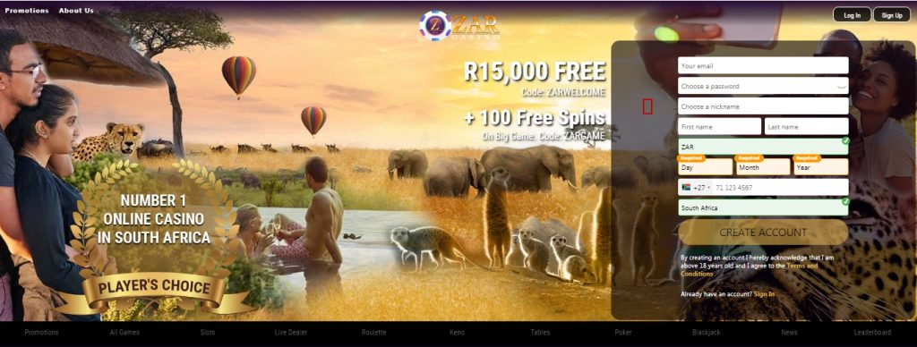 ZAR Casino South Africa