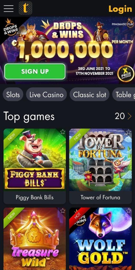 Tangiers Casino Mobile App