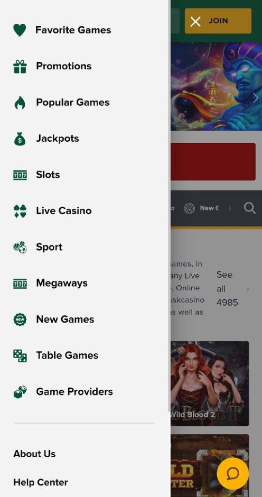 Tusk Casino Mobile App