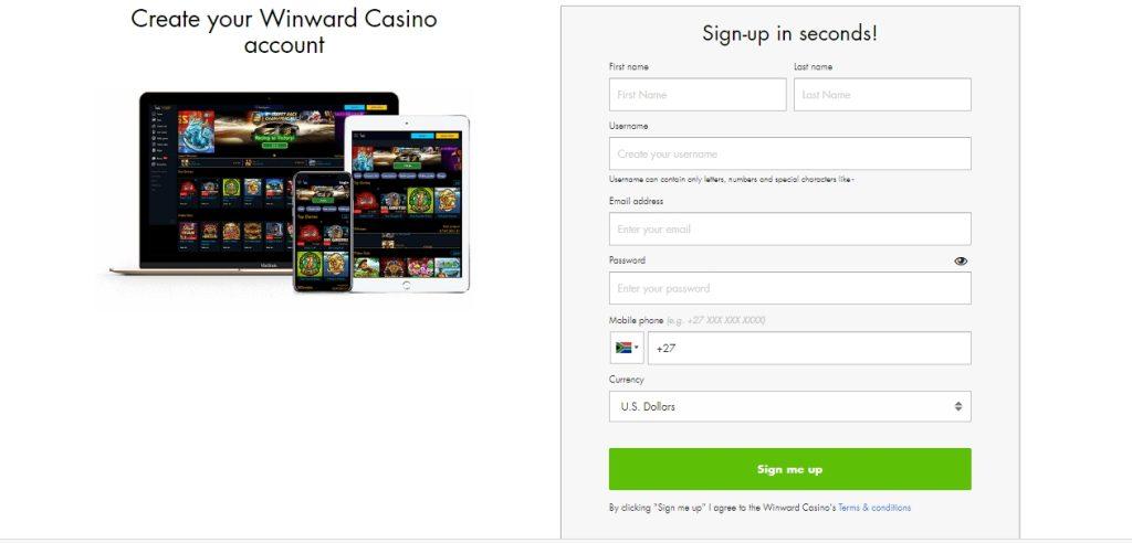 Winward Casino Login & Registration